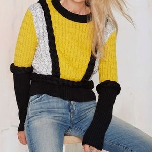 For love and lemons knitz billy sweater s yellow